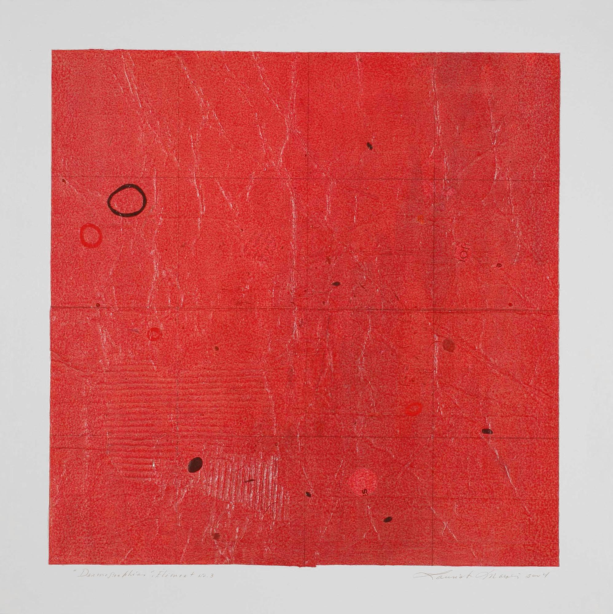 Dermographies No 3, 2004. Acrylique sur papier fort, 43 x 43 cm.