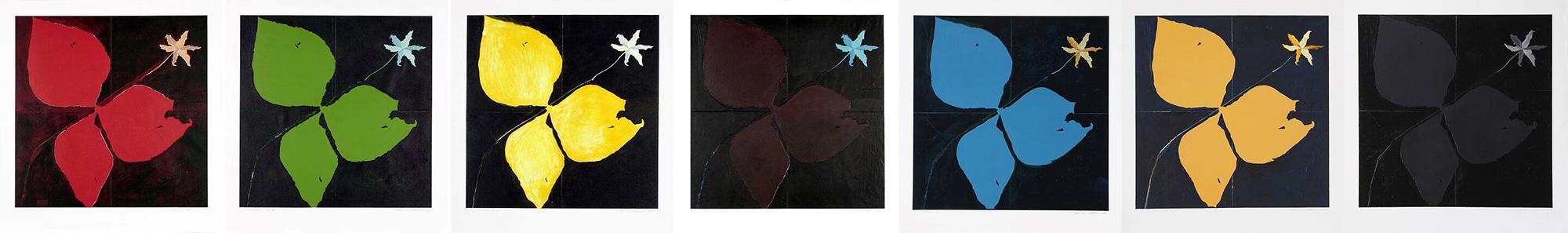 Trille, no 1 à 7, 2009. Acrylique sur papier fort, 43 x 343 cm.