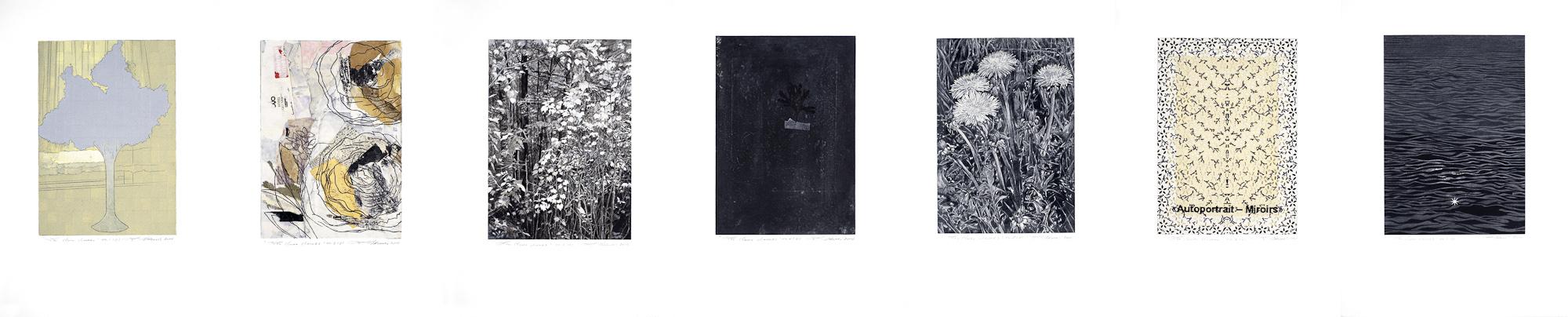 Les clairs-obscurs (série D), 2010 - 2012. Techniques mixtes sur papier fort, 42,5 x 210 cm.
