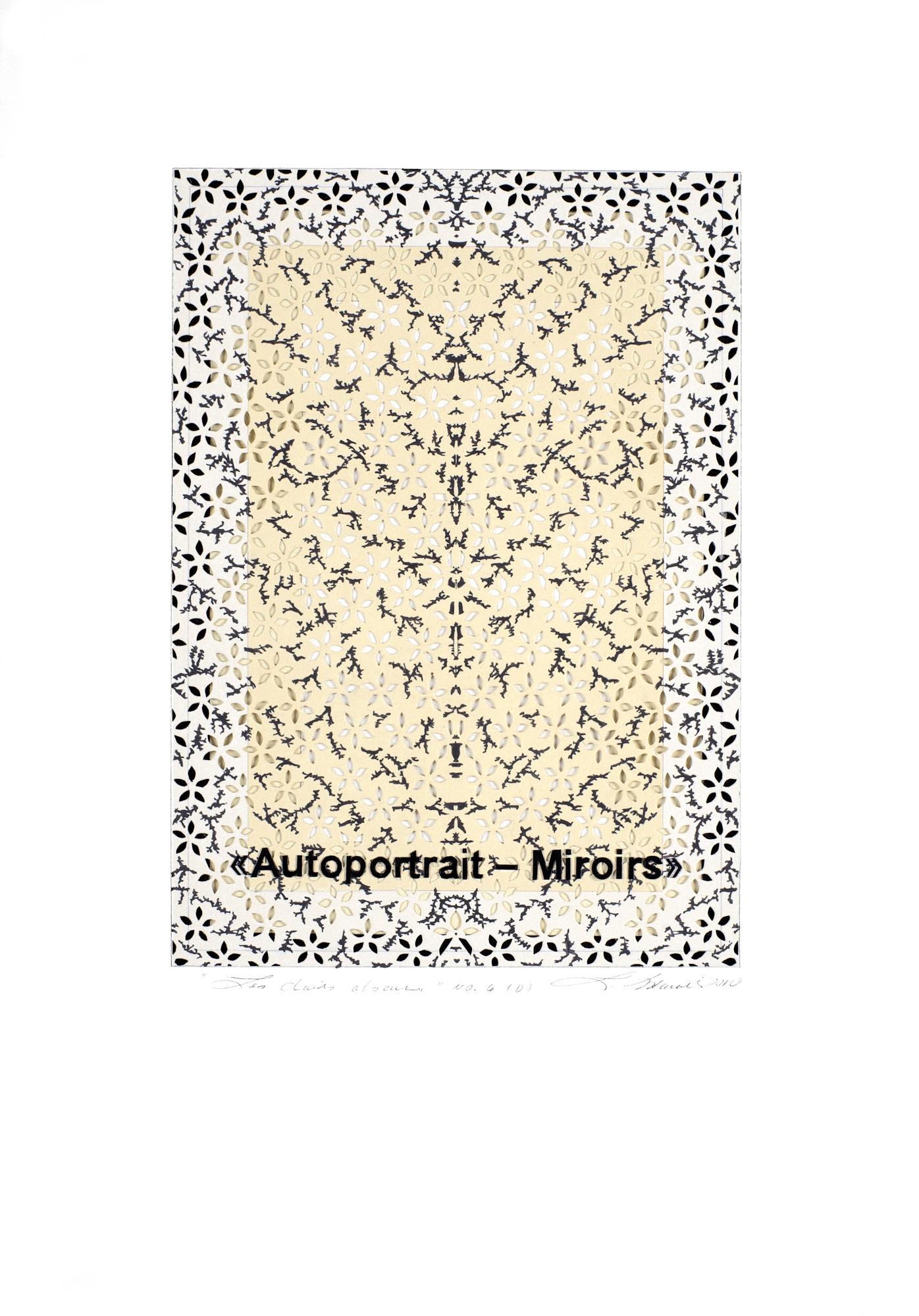 Les clairs-obscurs - Série D volet 6, 2010. Acrylique sur papier découpé, 42,5 x 30 cm.