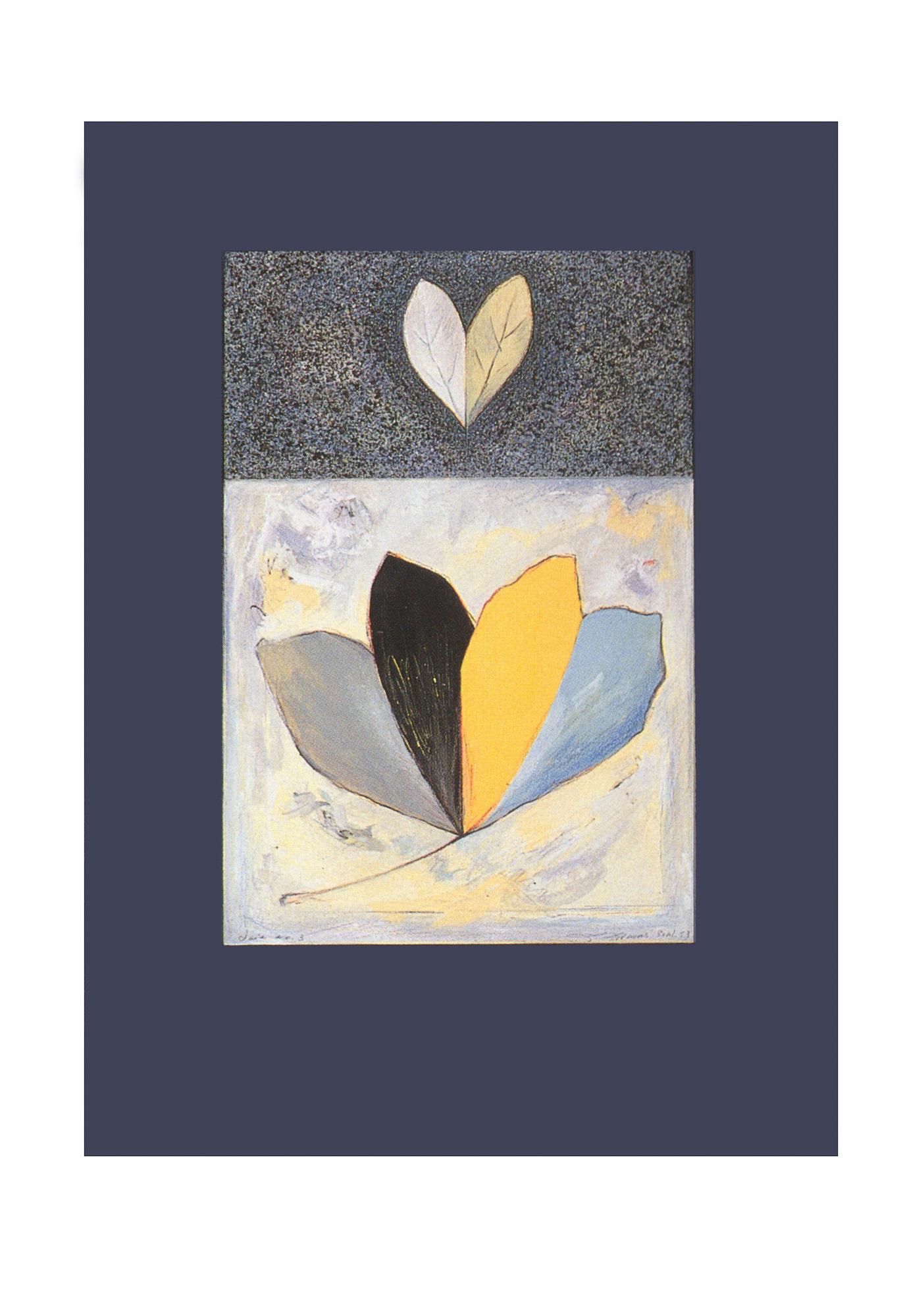 Joie No 3, 1993. Gouache et crayon sur carton, 69 x 50 cm.