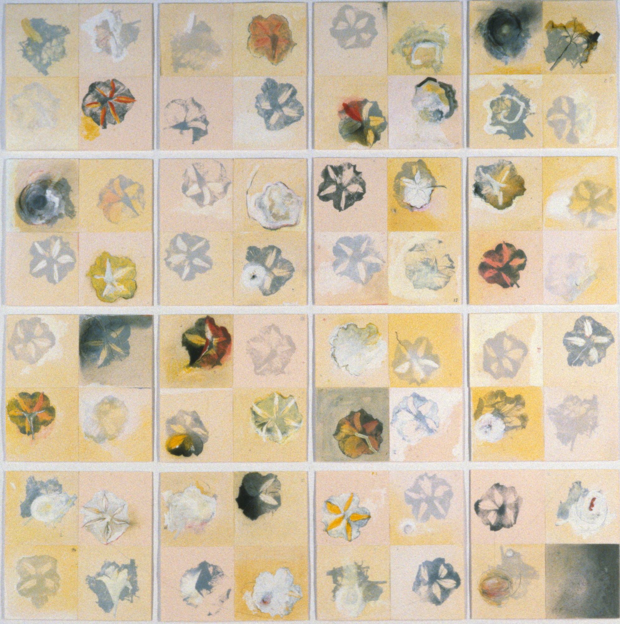 Le corps-étoiles, 1996. Lithographie et techniques mixtes sur papier, 210 cm x 210 cm.