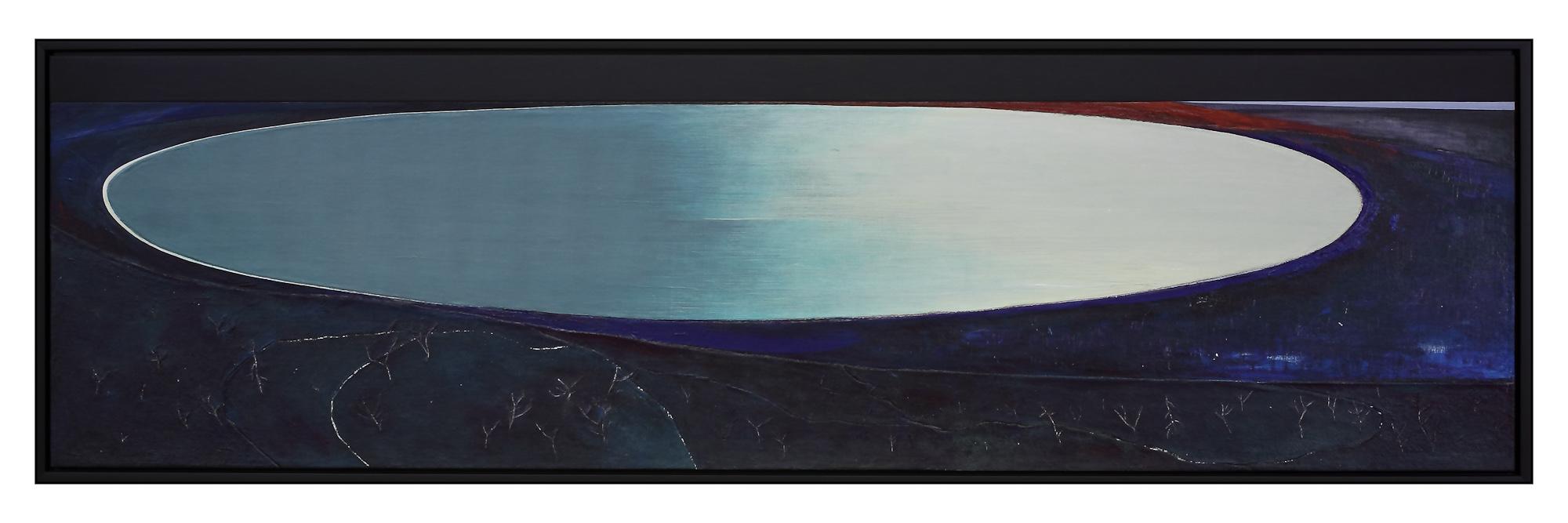 Lac, 1994. Acrylique sur toile, 69 x 240 cm.