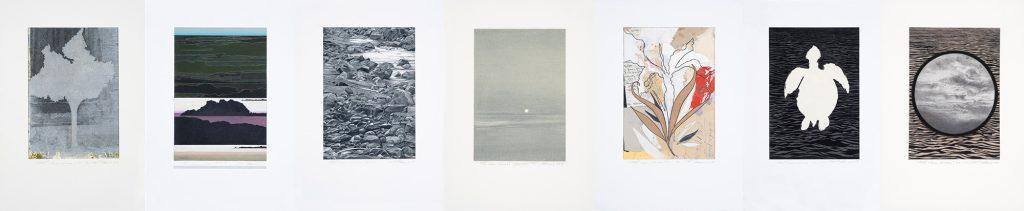 Les clairs-obscurs (série G), 2018 - 2018. Techniques mixtes sur papier fort, 42,5 x 210 cm.